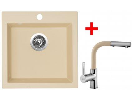 Akční set Sinks dřez VIVA 455 + baterie ENIGMA S Sahara  + Vůně do bytu Areon 85ml