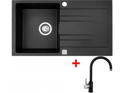 Akční set Sinks dřez RAPID 780 + baterie VITALIA Granblack  + Vůně do bytu Areon 85ml