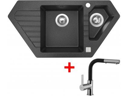 Akční set Sinks dřez BRAVO 850.1 + baterie ENIGMA S Granblack  + Sinks čistící pasta