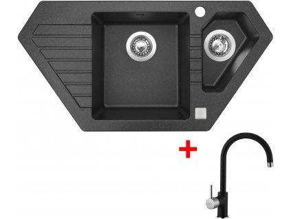 Akční set Sinks dřez BRAVO 850.1 + baterie VITALIA Granblack  + Sinks čistící pasta