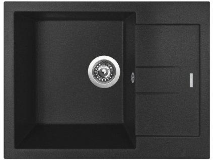 Granitový dřez Sinks AMANDA 650 Metalblack