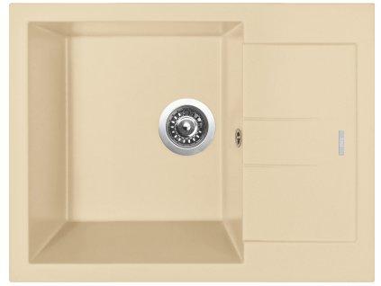 Granitový dřez Sinks AMANDA 650 Sahara  + Sinks čistící pasta