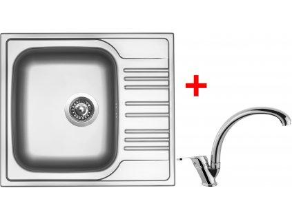 Akční set Sinks STAR 580 V matný + baterie EVERA Chrom
