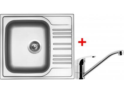 Akční set Sinks STAR 580 V matný + baterie PRONTO Chrom