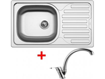 Akční set Sinks CLASSIC 760 V matný + baterie EVERA