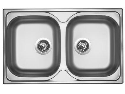 Kuchyňský nerezový dřez Sinks CLASSIC 800 DUO V matný