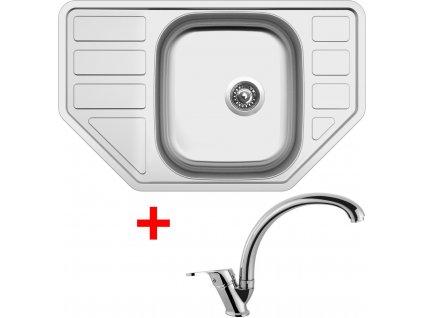 Akční set Sinks CORNO 770 V matný + baterie EVERA