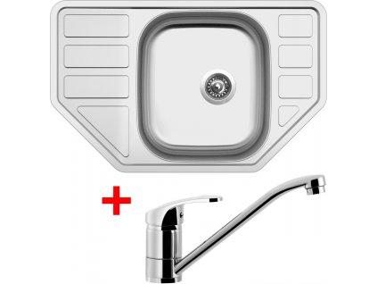Akční set Sinks CORNO 770 V matný + baterie PRONTO