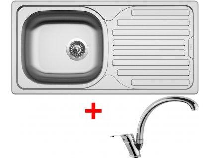 Akční set Sinks CLASSIC 860 V matný + baterie EVERA