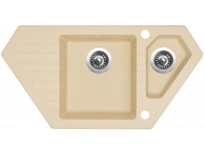 Granitový dřez Sinks BRAVO 850.1 Sahara  + Sinks čistící pasta