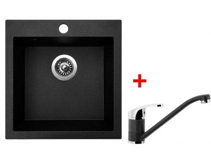 Akční set Sinks dřez VIVA 455 + baterie PRONTO Granblack  + Sinks čistící pasta