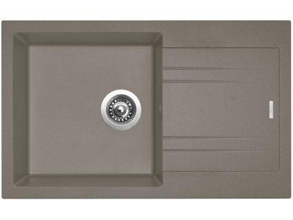 Granitový dřez Sinks LINEA 780 N Truffle