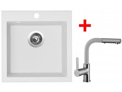 Akční set Sinks dřez VIVA 455 + baterie ENIGMA S Milk  + Sinks čistící pasta