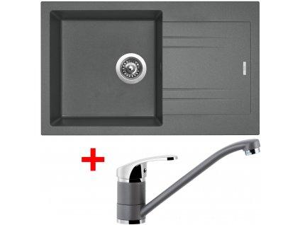 Akční set Sinks dřez LINEA 780 N + baterie PRONTO Titanium  + Sinks čistící pasta