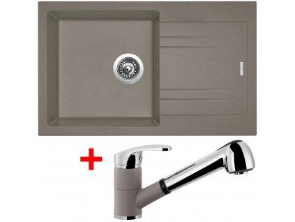 Akční set Sinks dřez LINEA 780 N + baterie LEGENDA S Truffle  + Sinks čistící pasta