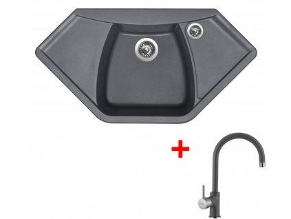 Akční set Sinks dřez NAIKY 980 + baterie VITALIA Titanium  + Sinks čistící pasta