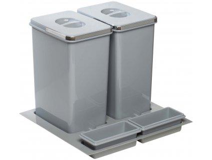 Odpadkový koš Sinks PRACTIKO 600 2x20l + 2x miska