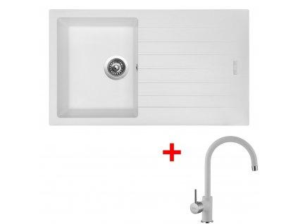 Akční set Sinks dřez PERFECTO 860 + baterie VITALIA Milk  + Sinks čistící pasta