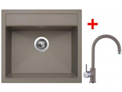 Akční set Sinks dřez SOLO 560 + baterie VITALIA Truffle  + Sinks čistící pasta