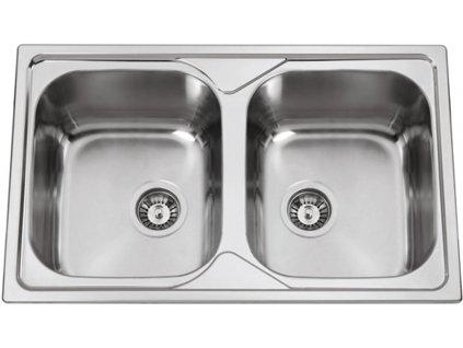 Kuchyňský nerezový dřez Sinks OKIOPLUS 800 DUO V leštěný  + Sinks čistící pasta