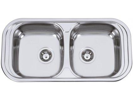 Kuchyňský nerezový dřez Sinks SEVILLA 860 DUO V leštěný