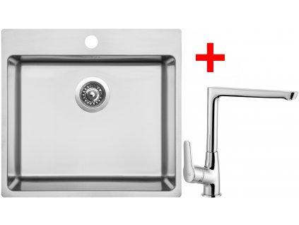 Akční set Sinks BLOCKER 550 V kartáčovaný + baterie CASPIRA Chrom  + Sinks čistící pasta