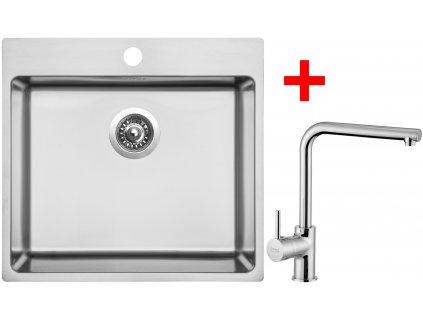 Akční set Sinks BLOCKER 550 V kartáčovaný + baterie ELKA Chrom  + Sinks čistící pasta