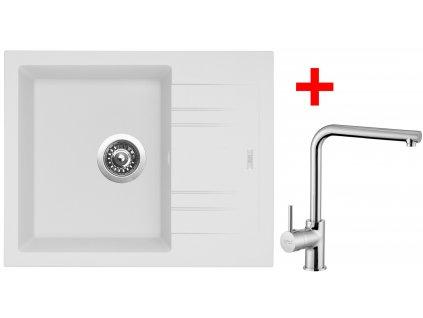 Akční set Sinks dřez LINEA 600 N Milk + baterie ELKA Chrom  + Sinks čistící pasta