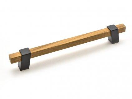 nabytkova uchytka beam drevena dub lakovany cerna matna 1