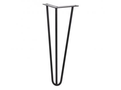 STRONG stolová noha drátěná 420mm - černá matná