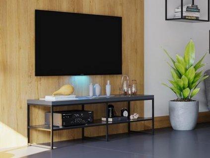 stolova podnoz sr21 pro televizni stolek cerna matna detail 3