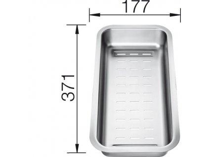 Miska nerez pro DALAGO- 371x177