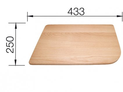 Krájecí deska masivní buk pro DELTA 250x433