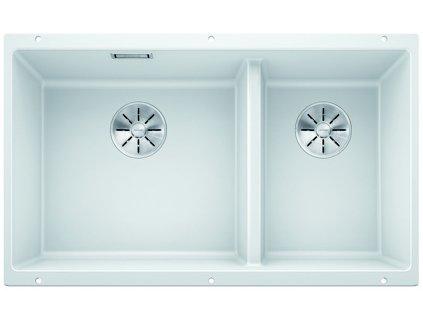 Blanco SUBLINE 430/270 U InFino Silgranit bílá bez táhla  + Čistící pasta Franke Twister 125ml