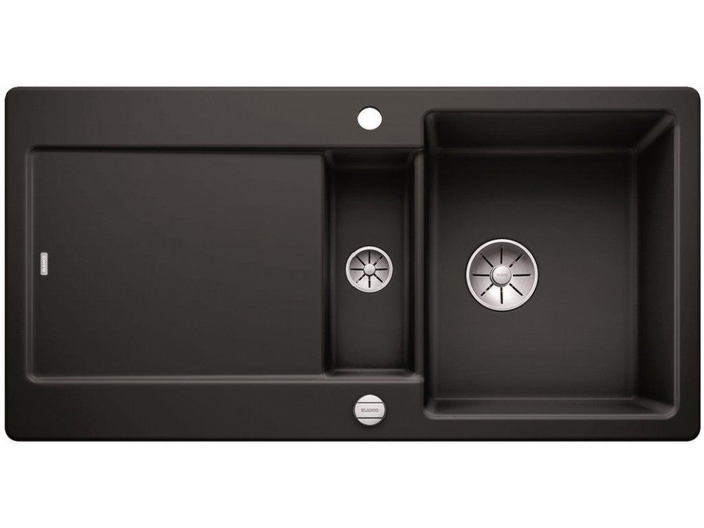Keramický drez Blanco IDENTO 6 S čierna s excentrom