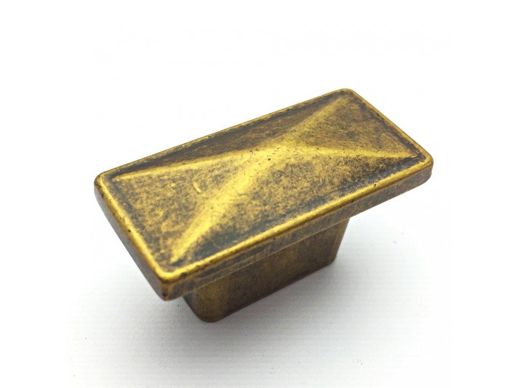 5106 nabytkova knopka safira zlata antik