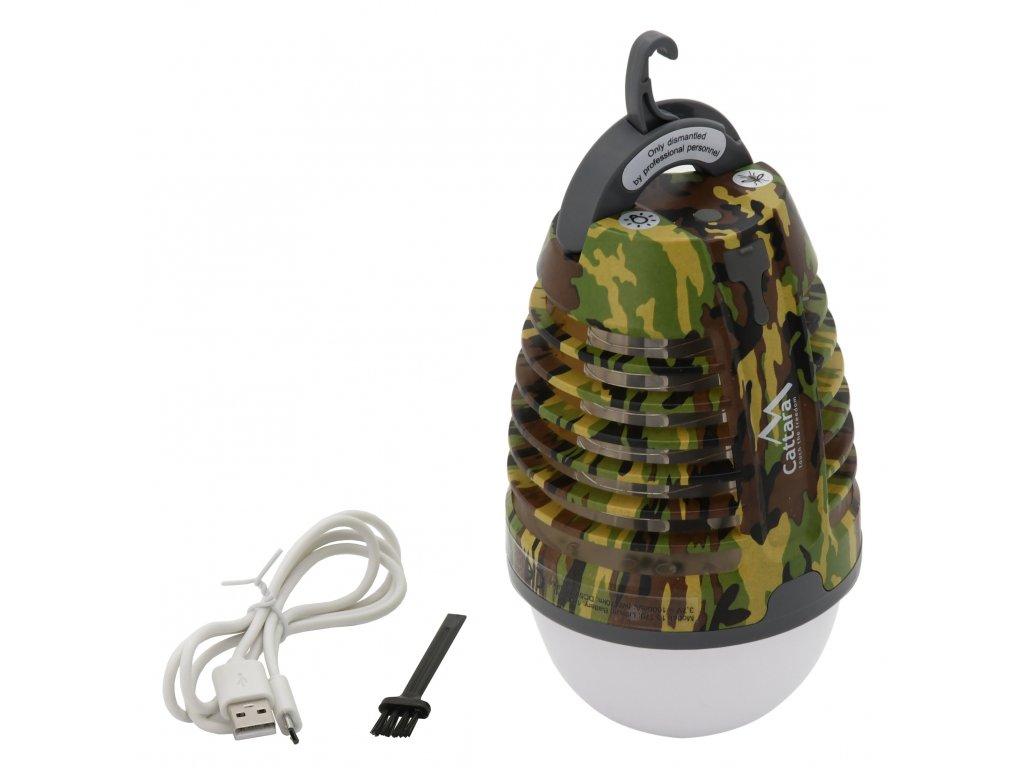 Svítilna PEAR ARMY nabíjecí + lapač hmyzu 13179