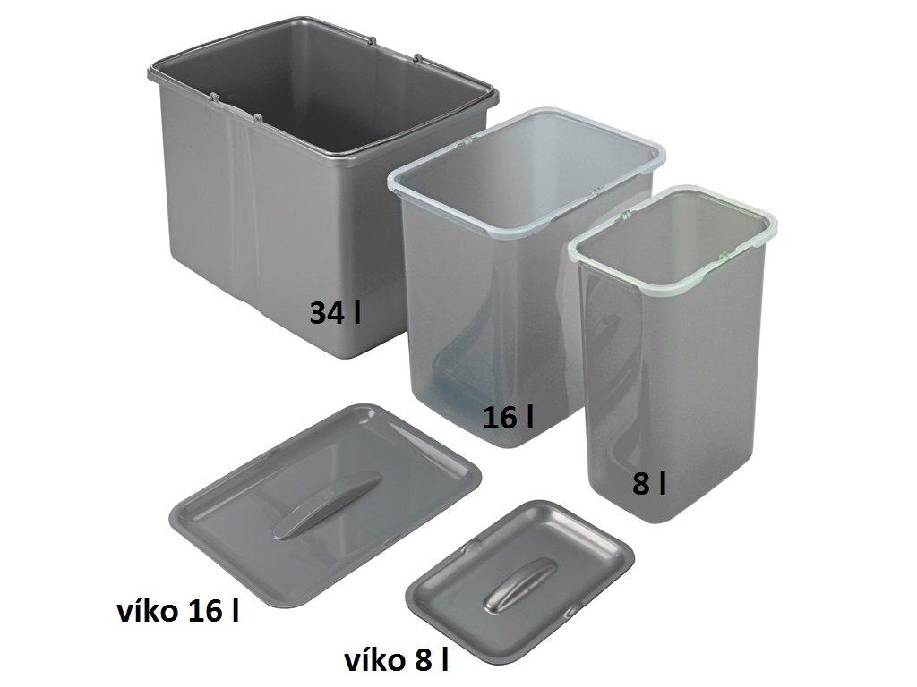 5253 2 samostatny odpadkovy kos sinks 8 l