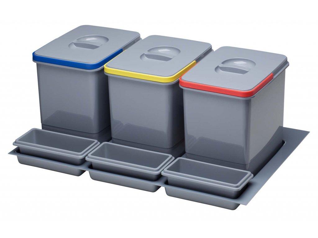 5334 2 odpadkovy kos sinks practiko 800 3x12l 3x miska