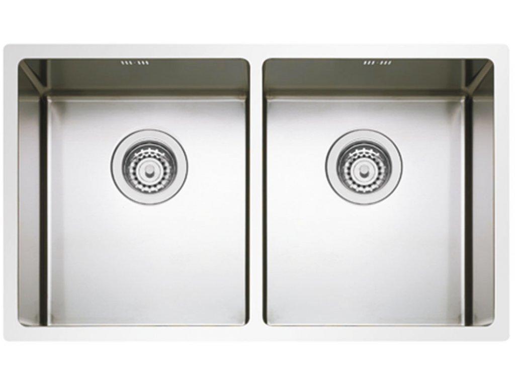 5832 kuchynsky nerezovy drez sinks box 755 duo ro