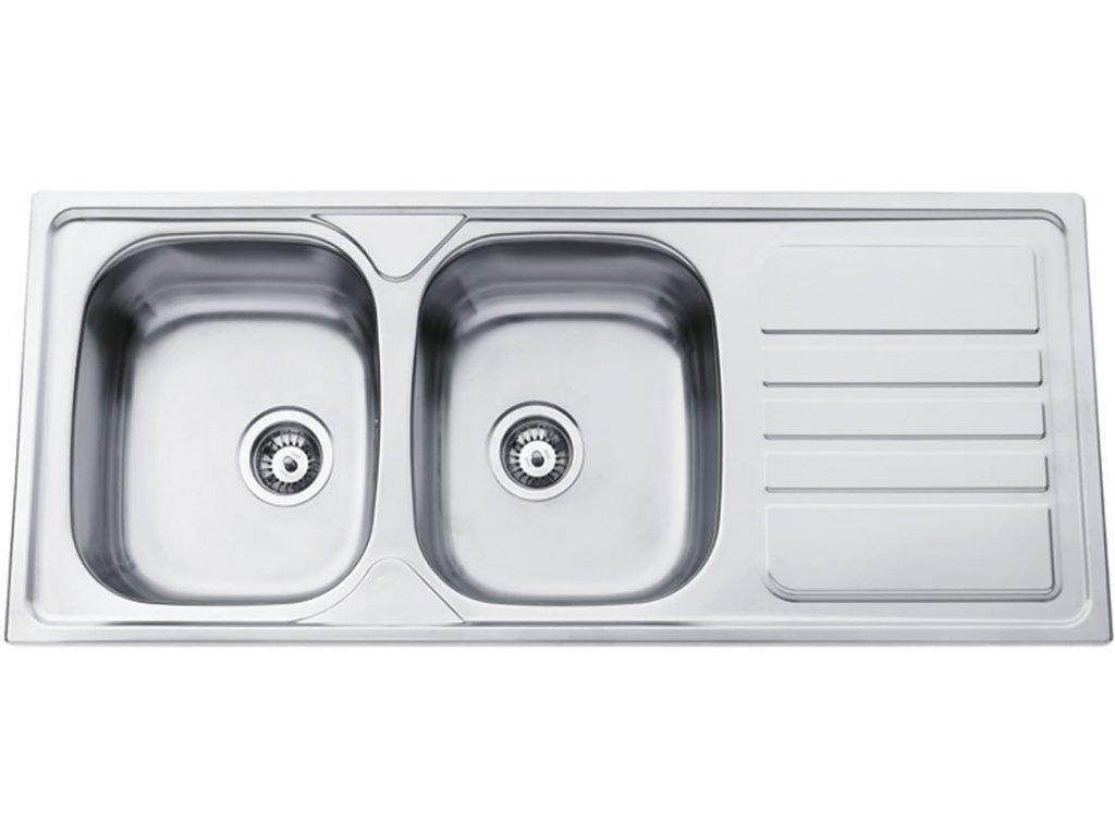 6054 5 kuchynsky nerezovy drez sinks okio 1200 duo v matny
