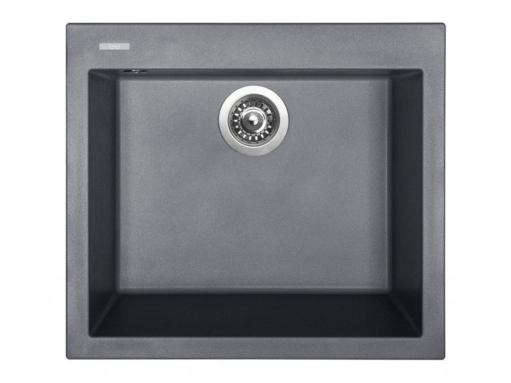 6981 4 granitovy drez sinks cube 560 titanium