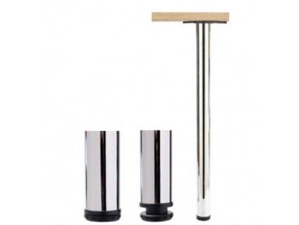 1860 stolova noha 710 mm kulata chrom