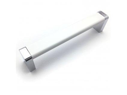 Nábytková úchytka Sebi bílá/chrom (Rozteč (mm) 256)
