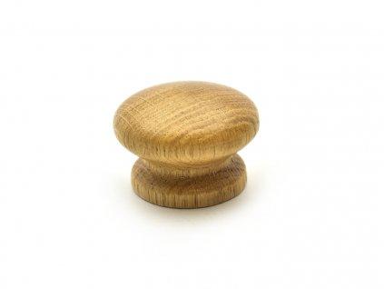 nabytkova knopka drevena dub lakovany 1
