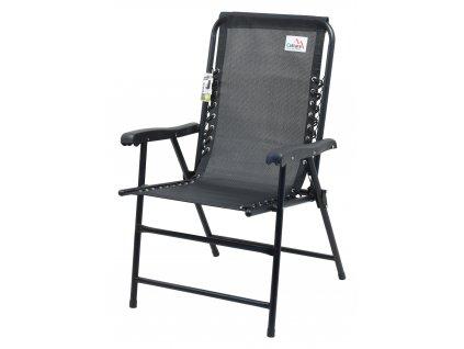 Židle zahradní skládací TERST černá 13466