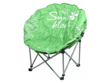Židle kempingová skládací FLOWERS zelená 13470