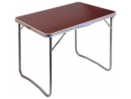 Stůl kempingový skládací BALATON hnědý 13486