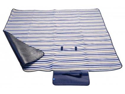Pikniková deka FLEECE 150x135cm modrá 13571