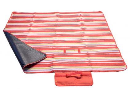 Pikniková deka FLEECE 150x135cm červená 13572
